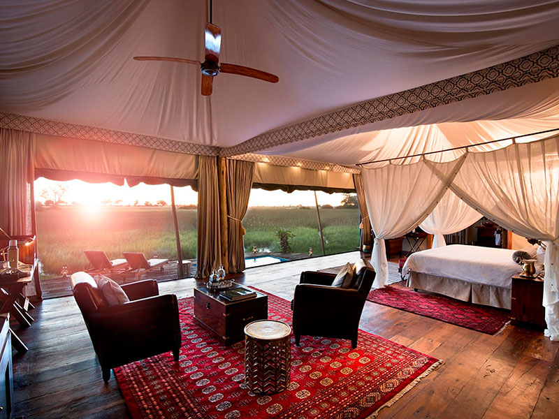 Botswana. Descansar en alojamientos de lujo o en lodges