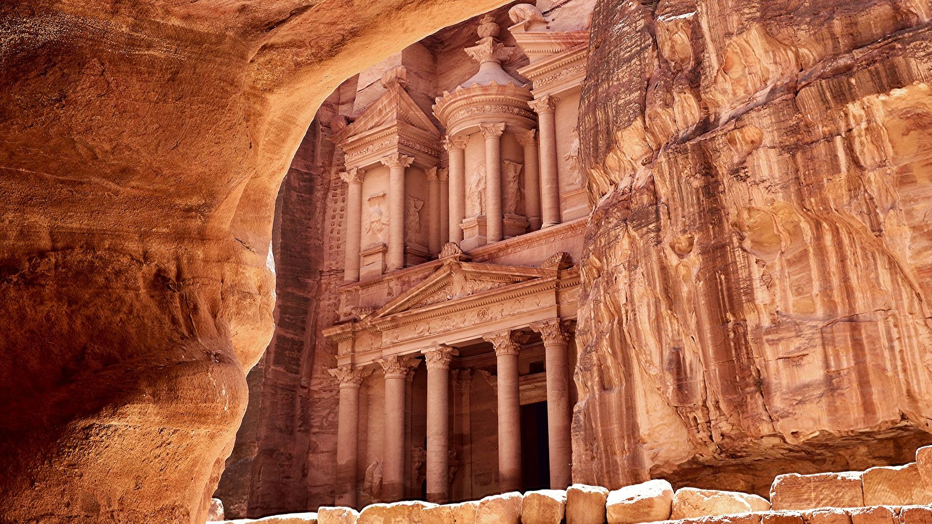 Las ruinas de Jordania