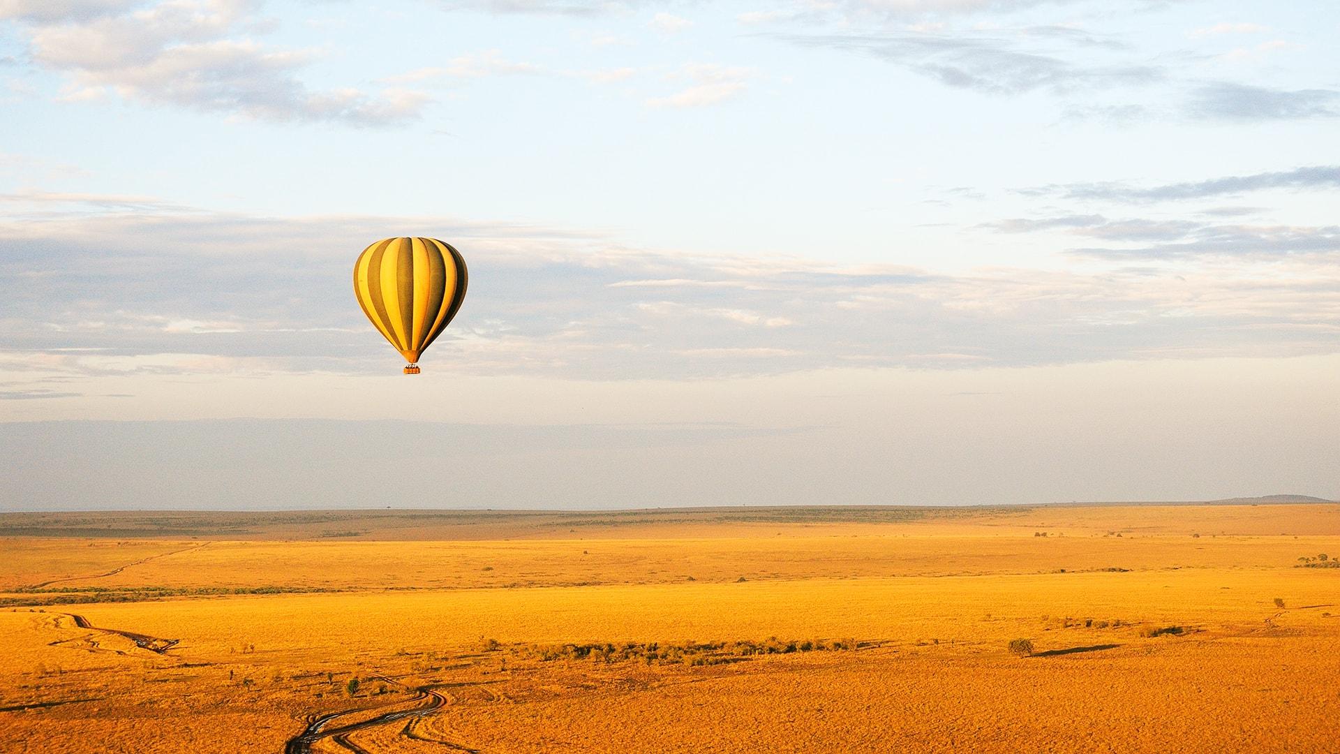 Vuelo en globo sobre Kenia