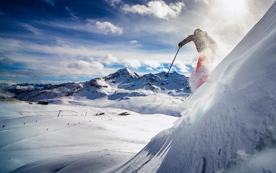Skiing in the Norwegian Arctic or Alps