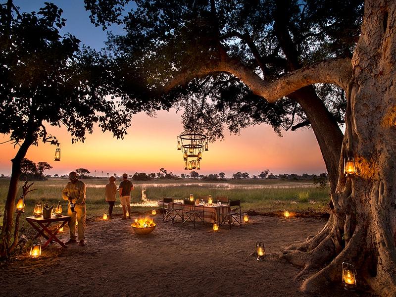 Botswana. Noche bajo las estrellas en Botswana
