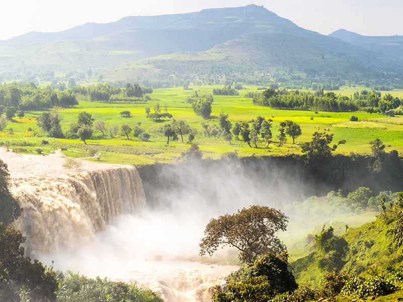 Ethiopia. Route to the Tis Isat waterfalls