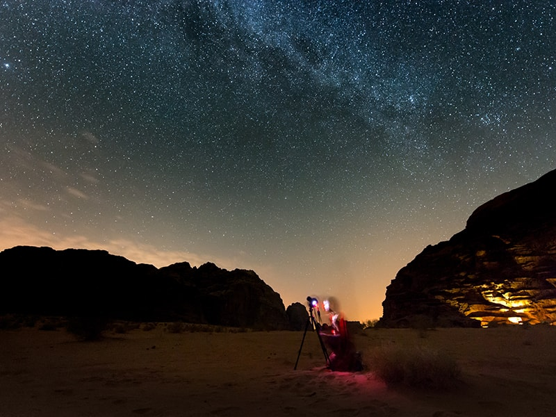 Jordania. Disfrutar de una clase de astronomía