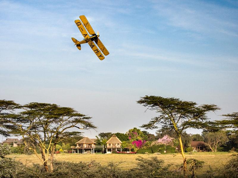 Kenya. Flying over the exclusive area of Laikipia