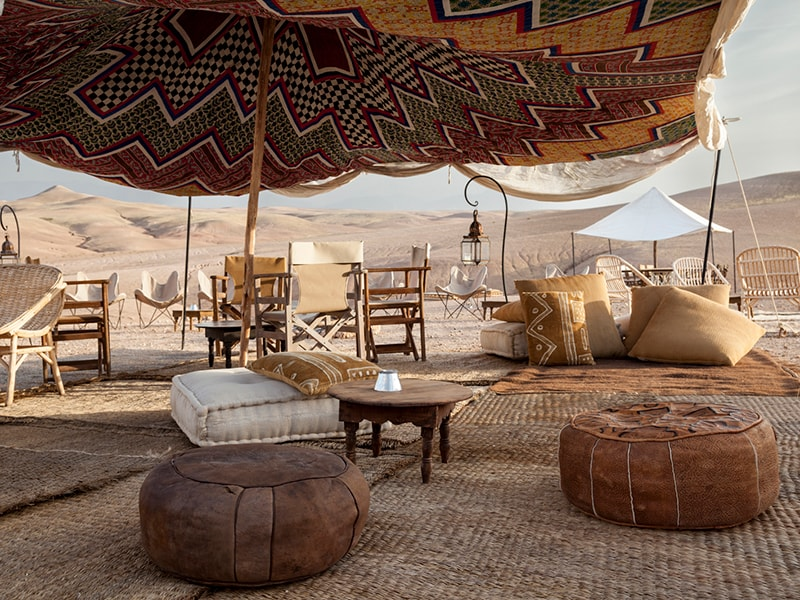 Morocco. Overnight in a tent near the oasis of Iriki