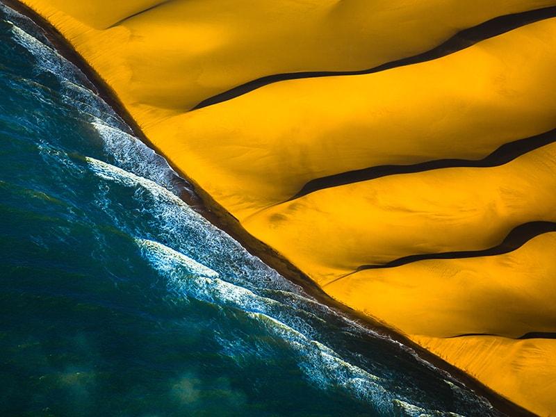Namibia. Private flight over the Skeleton Coast