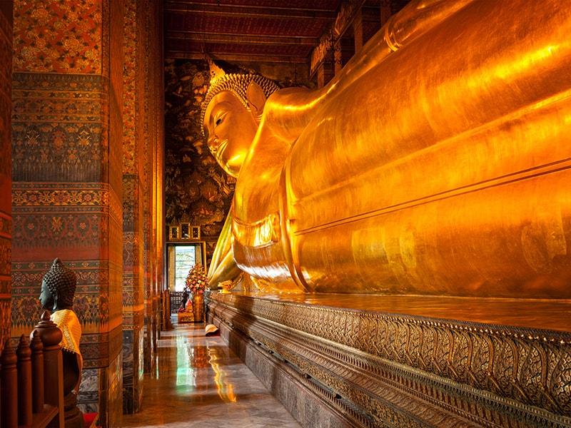 Thailand. Reach the famous Reclining Buddha