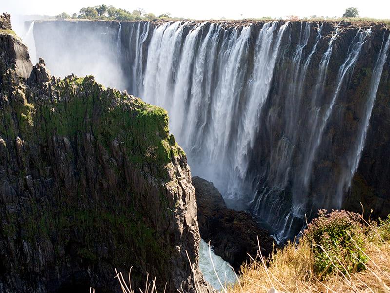 Zambia. Flight in Ultralight aircraft
