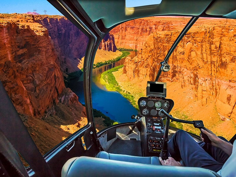 Estados Unidos. Sobrevolar el Cañón del Colorado