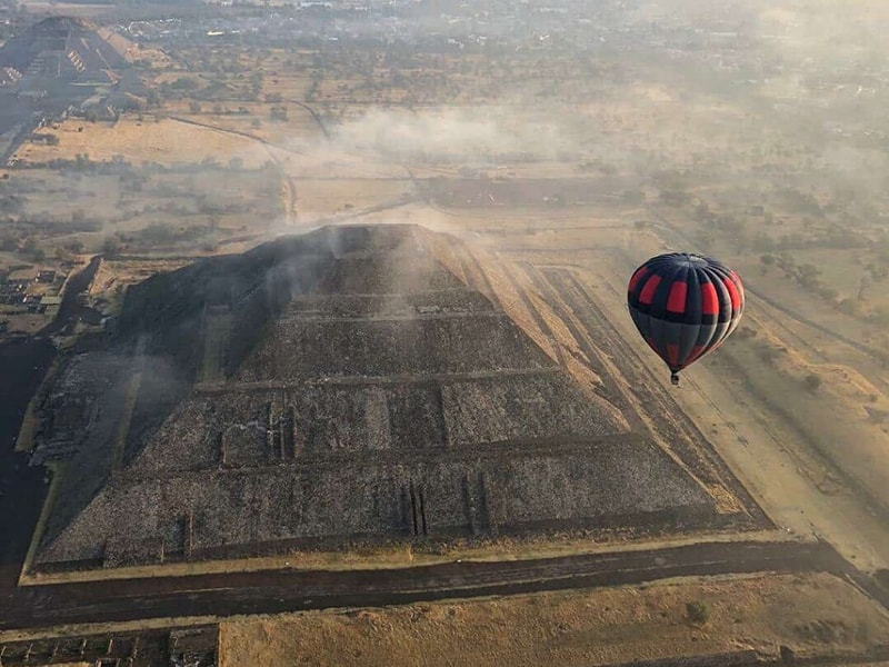 México. Ver el espléndido Valle de Teotihuacán