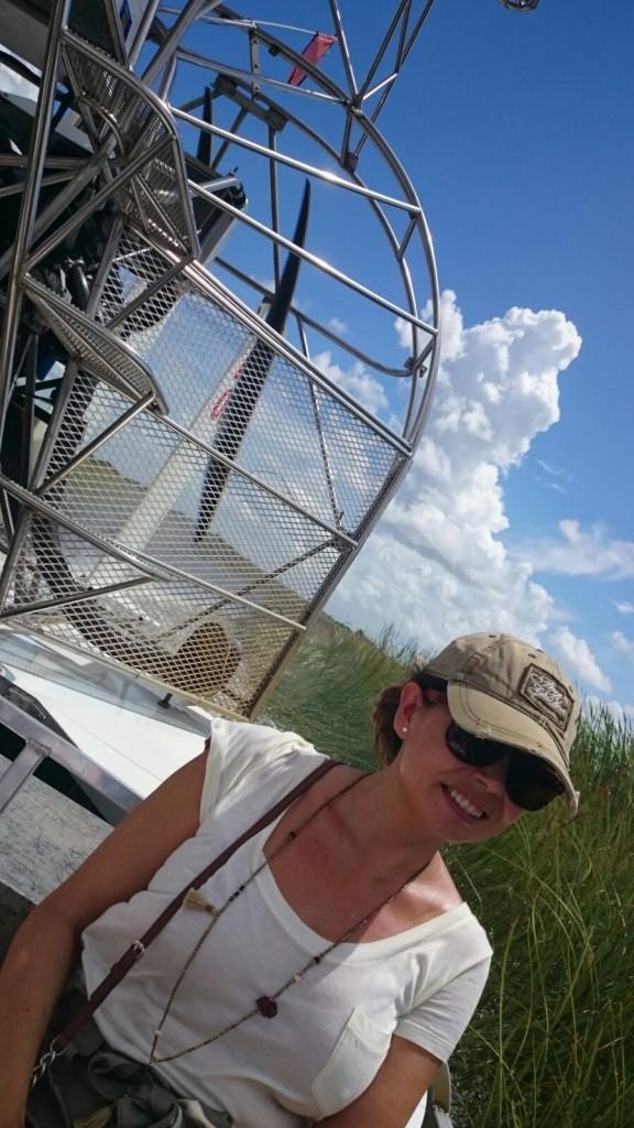 Paseo en bote de hélice en los Everglades