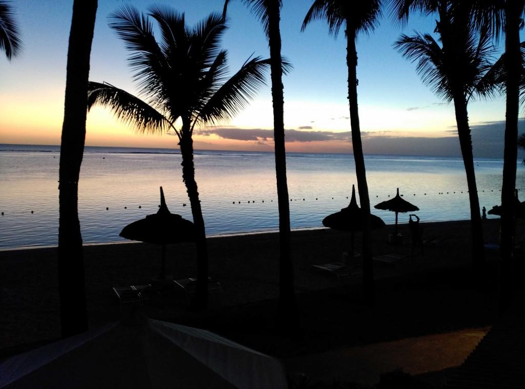 un atardecer en Isla Mauricio