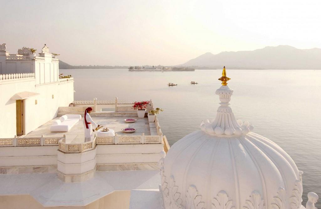 Palacios reconvertidos en hoteles de lujo, India.