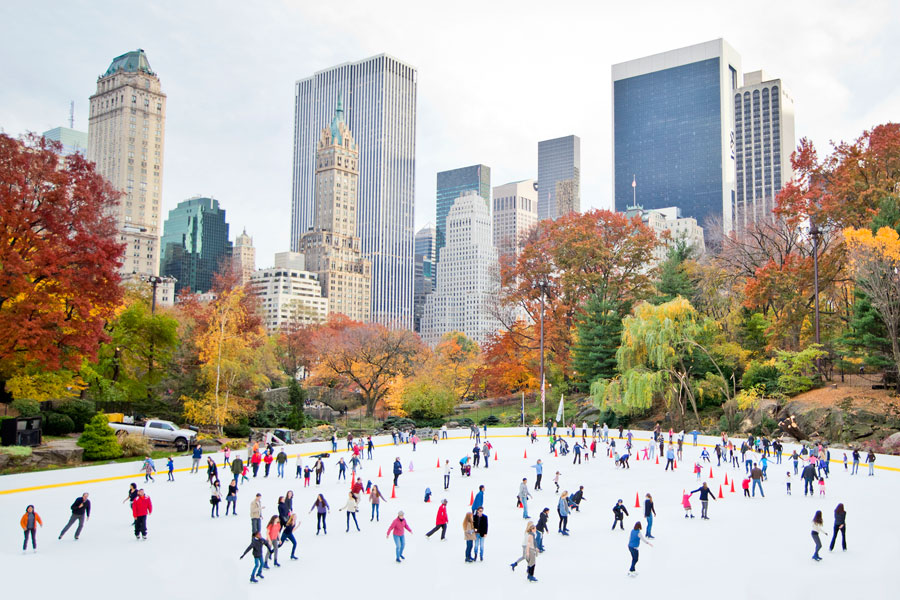 Pista de patinaje sobre hielo de Central Park's