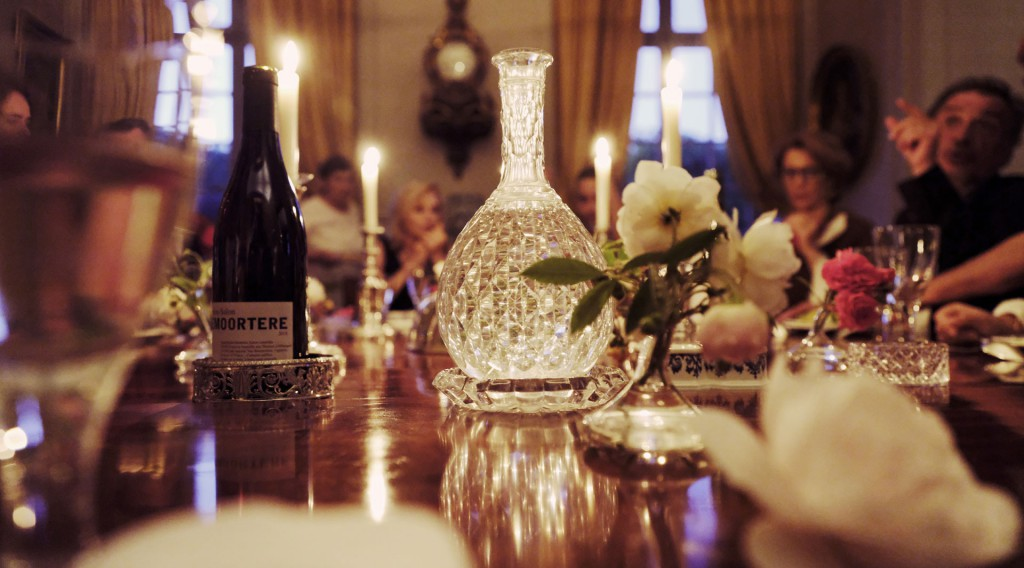 Cena privada a la luz de las velas en el Château