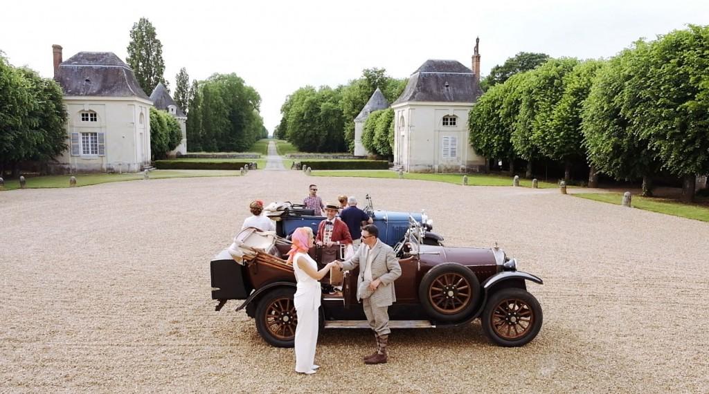 Paseo en descapotables de los años 20 por la región del Loira