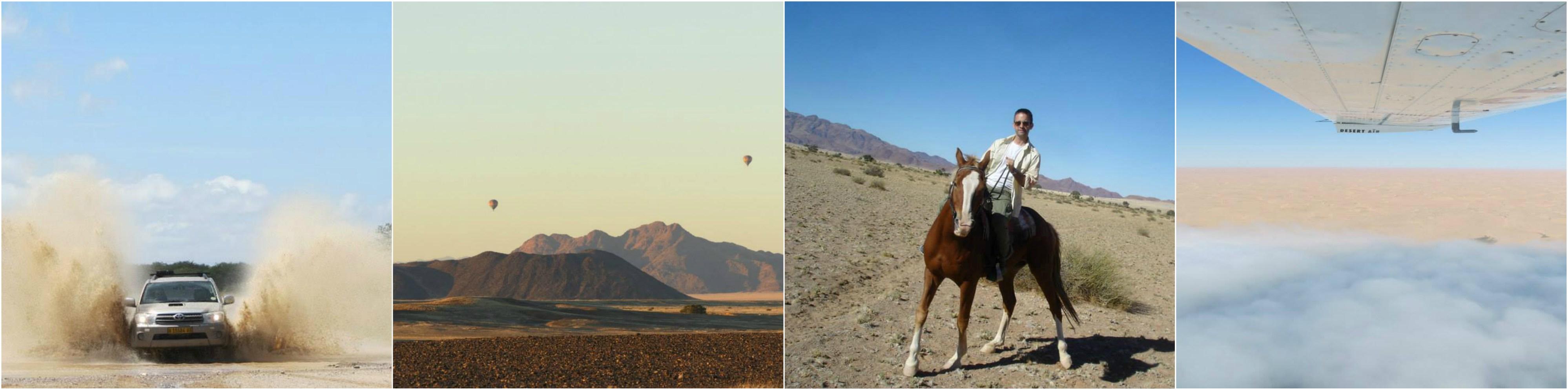 Nambia, tierra, mar y aire