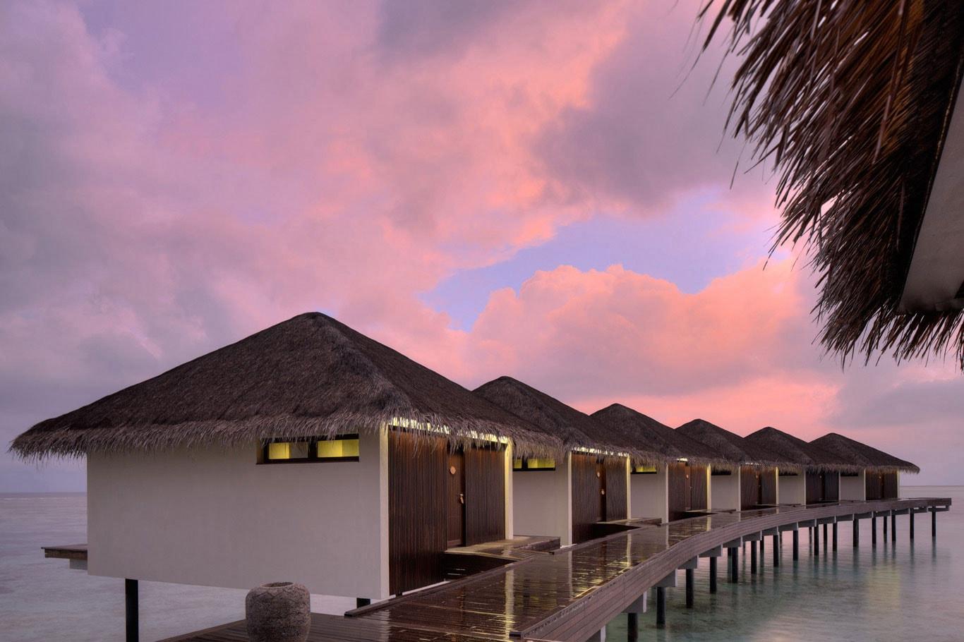 atardecer en the residence maldivas