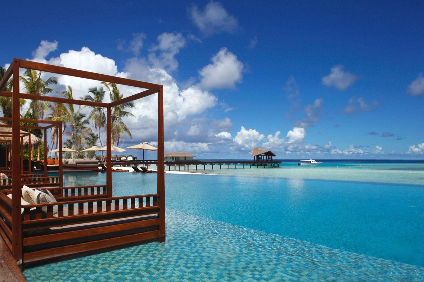 Piscina para relajarse en Maldivas