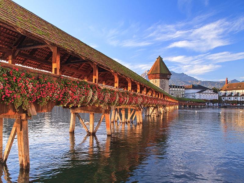 Switzerland. KAPPELBRUKKE