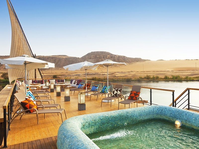 Egypt. Take a private cruise on the Nile River