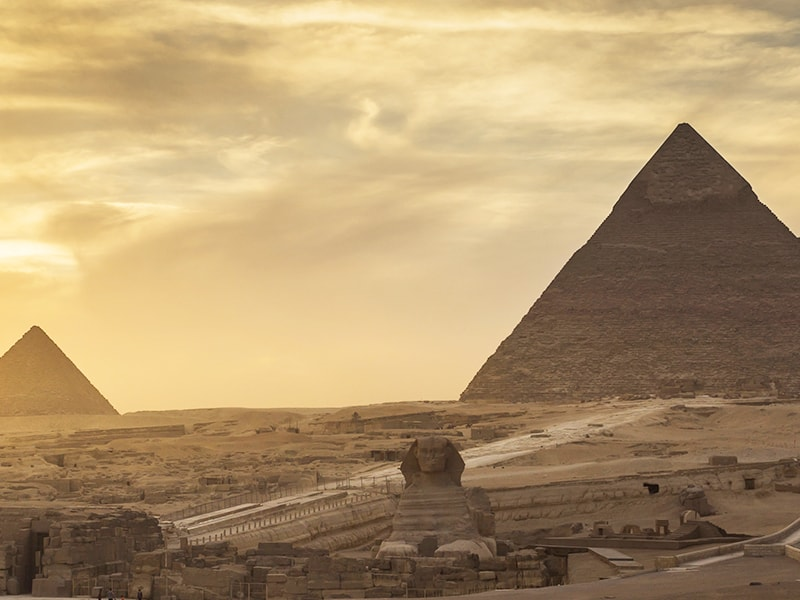 Egypt. Private access to the pyramid area