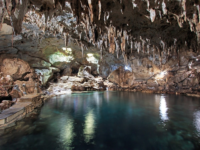 Philippines. Enter the incredible caves of the Underground River National Park
