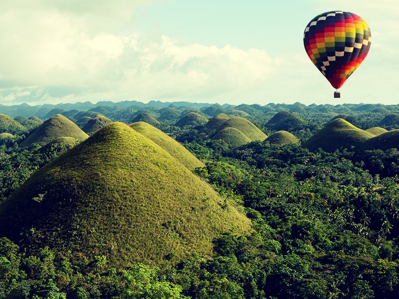 Philippines. Explore the Bohol Chocolate Hills