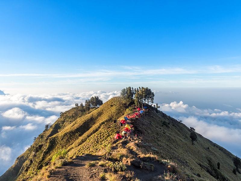 Indonesia. Trekking through the second highest volcano in Indonesia