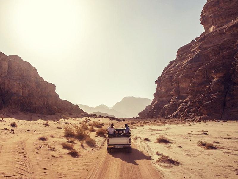Jordan. Tour the Wadi Rum desert by jeep