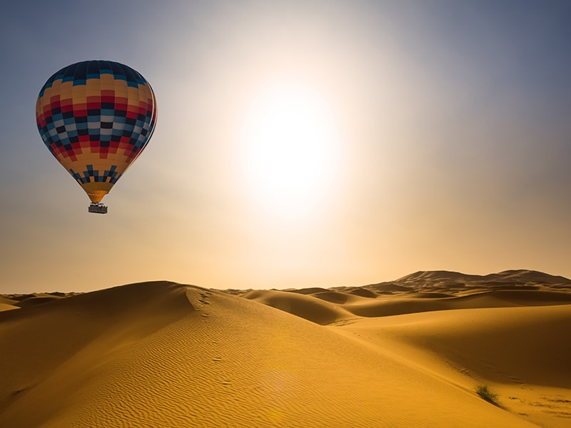 Morocco. Hot air balloon flight