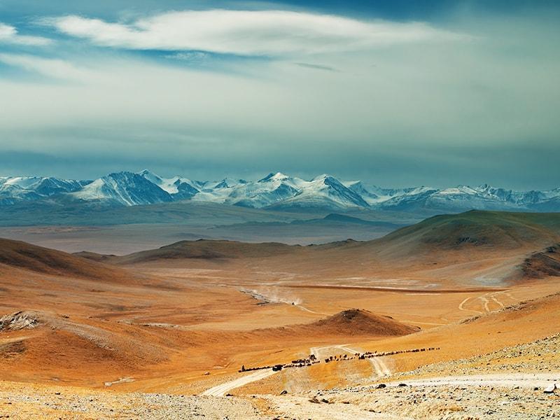 Mongolia. The silent Gobi desert