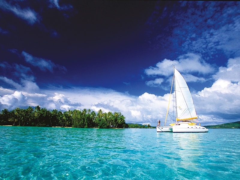 Polynesia. Take a sailing trip through its crystal clear waters and dive among whales