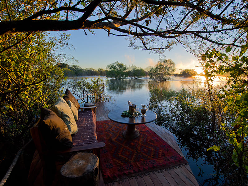 Zambia. Relaxation in exclusive accommodations and lodges