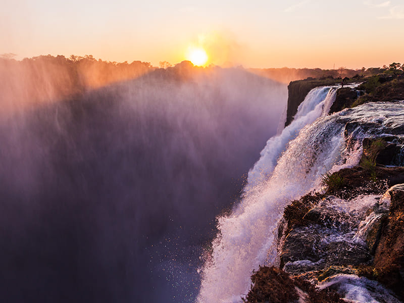 Zambia. Enjoy a swim in the Devil's Pool