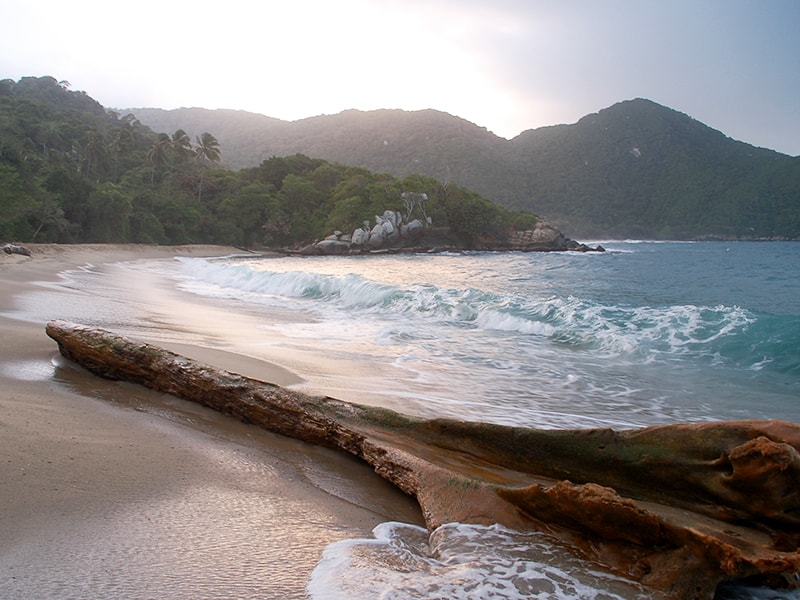 Colombia. Enjoy the pristine beaches of Tayrona National Park
