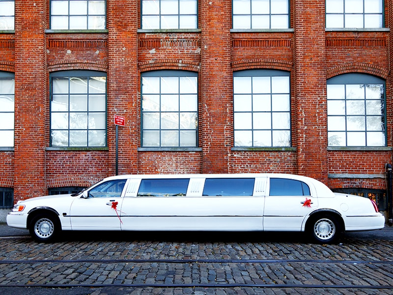 United States. Movie tour in limousine