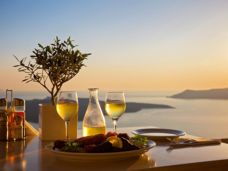 Greece. Santorini's wineries