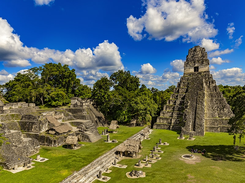 Guatemala. Archaeological tour of Uaxactun Park