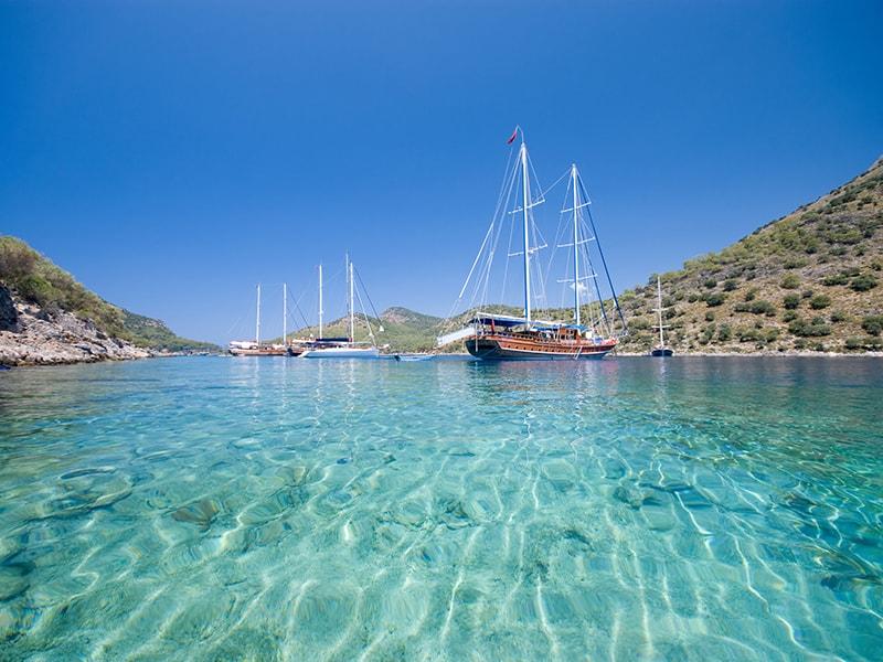 Turquía. Navegar en una goleta